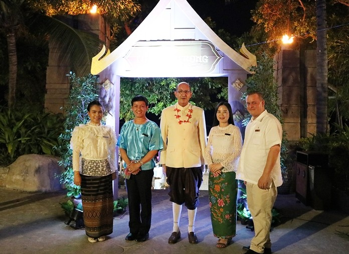 Executives of the Centara Grand Mirage Beach Resort Pattaya joined in the traditional Loy Krathong festivities. (l-r) Jeerapa Chaimart – Rooms Division Manager, Arum Chaisomsri – Area Training Manager, Denis Thouvard- Area General Manager, Tiwaporn Mahaprom- Director of Human Resources and Jari Nielsen- Resident Manager.