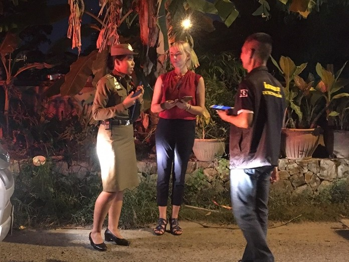 Irina Kotlova sought assistance from the Pattaya police after her IPhone was stolen by a snatch-and-run bandit.