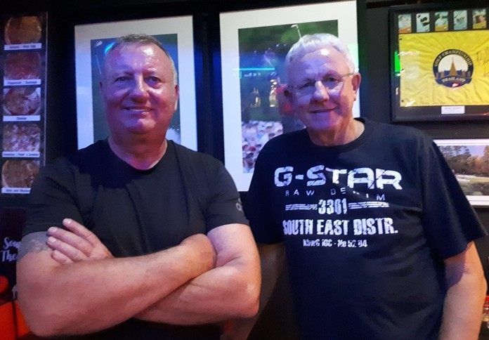 In the photo we have from L to R Monday's winner Glenn Smith with Eric Black.