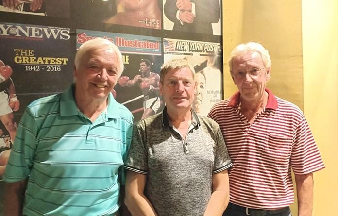 Dave Howden, Frank Grainger and Per Forsberg.