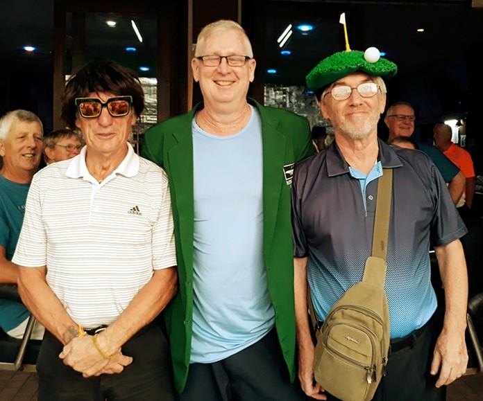 Winner Mike Tottenham with Steve Baker (L) and John Harrison (R).