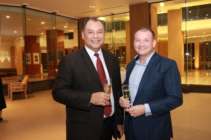 Two highly respected professionals, Prem Calais (left) GM of the Royal Cliff Hotels Group and Zoltan Zakor, Director of Business Development at Vanichwathana.
