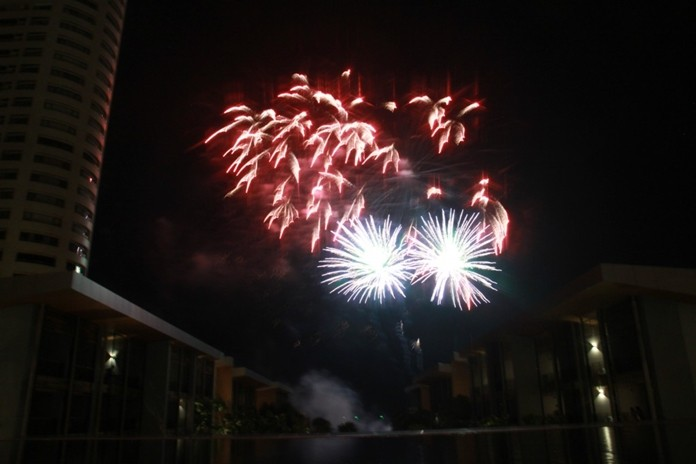 The grand finale was the fireworks display over the gulf.
