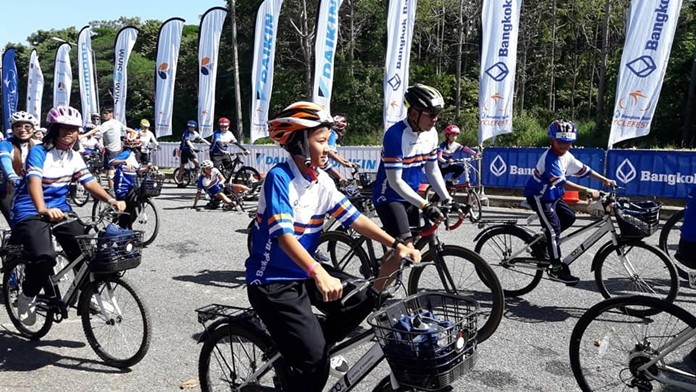"""Kids from the CPDC joined in the """"ride for all"""" Bangkok Bank Cycle Fest 2019, much to their delight."""
