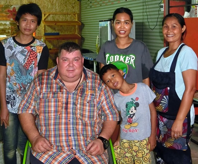 Piet gets a lot of help and love from his Thai family.