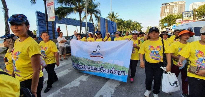 Hundreds of volunteers marched in the annual parade.