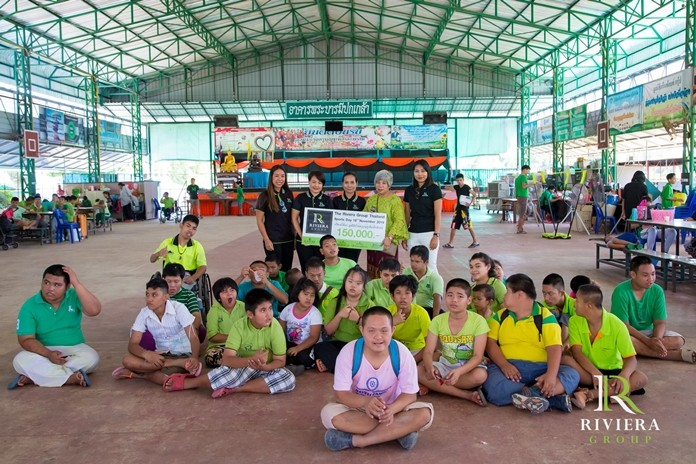They also presented 150,000 baht to the Ban Khru Boonchu Home for Special Needs Children.