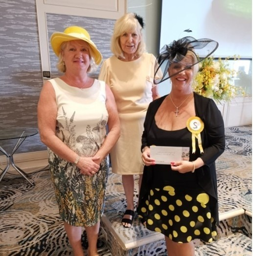 The lucky draw winner was Anita Traynor (right) here with Jayne (left) and Sue.