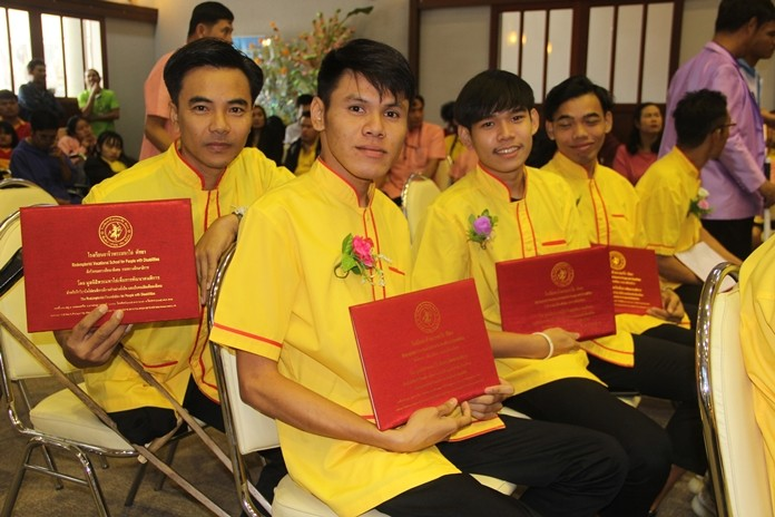 Several male graduates are off to sports camp.