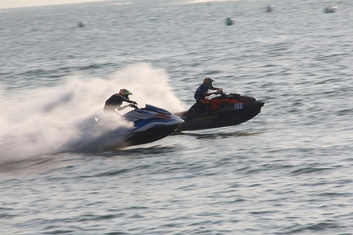 Riders compete in the 2019 Thai Airways Jet Ski World Cup held over the weekend off Jomtien Beach.
