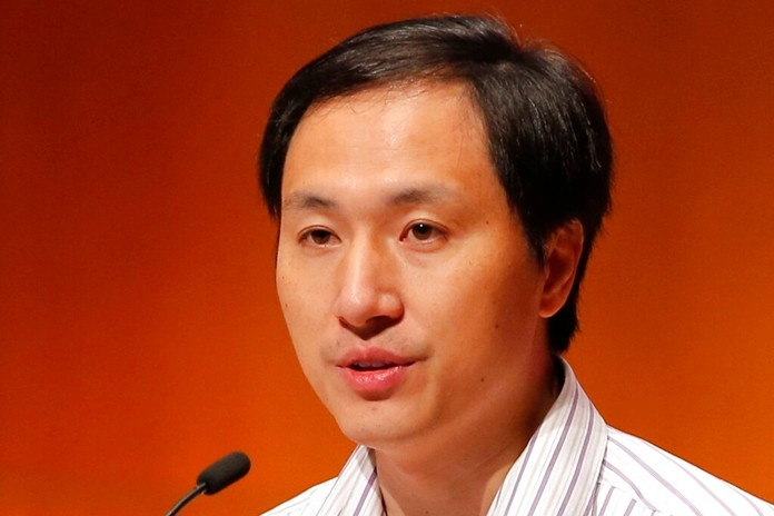In this Nov. 28, 2018, file photo, He Jiankui, a Chinese researcher, speaks during the Human Genome Editing Conference in Hong Kong. He has not been seen publicly since January, his work has not been published and nothing is known about the health of the GMO babies. (AP Photo/Kin Cheung, File)