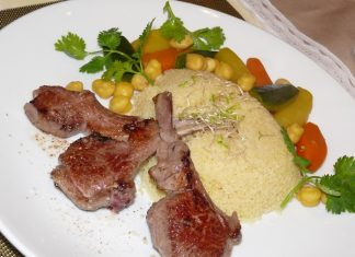 Moist juicy lamb with couscous.