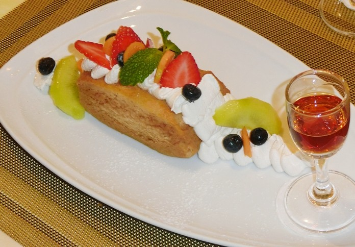 The classic rum baba.