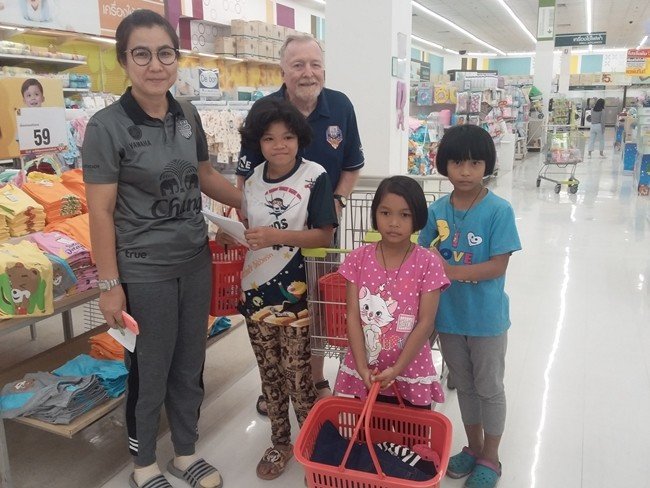 Each child is allocated 1000 baht and is free to spend on whatever they want.