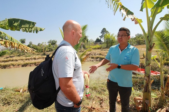 HHNFT Asst. Director Siromet Akjrapongpanich explains how they manage the project's agricultural farm.