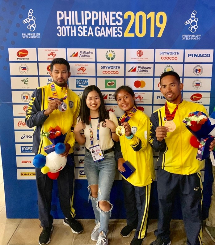 Chonchaya Junthonglang won gold for taking first place in the Female RSX category, Nattapong Phonopparat won a sliver in the Male RSX race, and Navin Singsart scored a bronze in the RSX One bracket.
