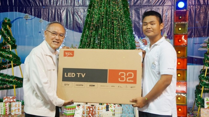 Children at Ban Euaree will now be able to watch their favorite shows on a new 32 inch LED TV.