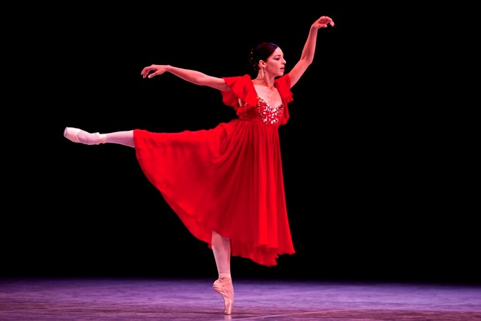 In this Oct. 28, 2012 file photo, Cuba dancer Viengsay Valdes performs during the inauguration of the 23rd International Ballet Festival, at the National Theater, in Havana, Cuba. (AP Photo/Ramon Espinosa, File)