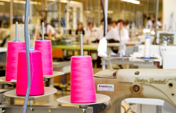 This April 10, 2012 file photo shows the production department at fashion giant Inditex's headquarters where Zara fashion garments are designed in La Coruna, Spain. (AP Photo/Jesus Sancho, File)