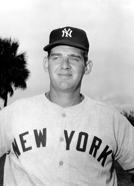 In this March 1956 file photo, New York Yankees pitcher Don Larsen poses for a photo during baseball spring training in St. Petersburg, Fla. Larsen threw a perfect game and the only no-hitter in World Series history. (AP Photo, File)
