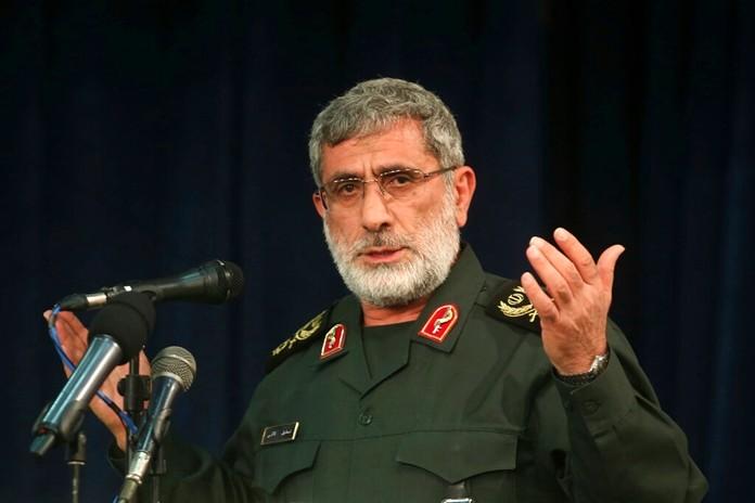 In this Nov. 5, 2016 photo, Gen. EsmailGhaani speaks in a meeting in Tehran, Iran.(Mohammad Ali Marizad/Tasnim News Agency via AP)