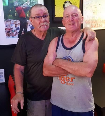 (L to R) Peter Grey & Mark Stapleton, Thursday's runner up.