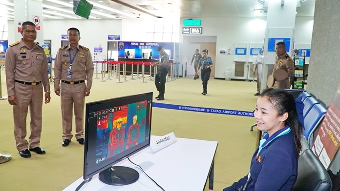 U-Tapao Rayong Pattaya Airport has installed thermal scanners to screen passengers from China for a new type of coronavirus.