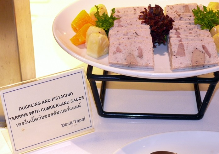 Duck terrine for the gourmet.
