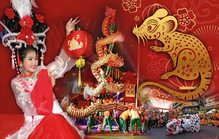 Lions and dragons will dance from morning to night when Pattaya celebrates Chinese New Year on Saturday, January 25. Around town, people will pay respect to ancestors at temples and individual homes, and many venues will hold celebrations for visitors. For a short list of city-sponsored events, May good luck, good health and prosperity be with you throughout the Year of the Rat.