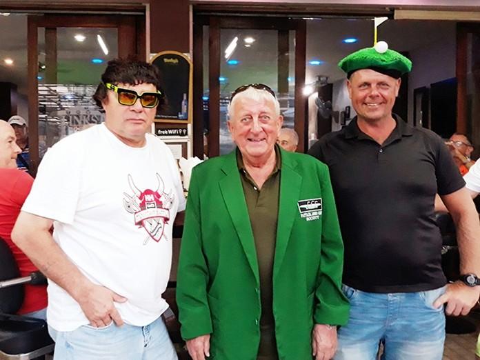 Winner B flight, Kenny Jepson, with Gordon Laviolette (L) and Sergei Kronbergs (R).