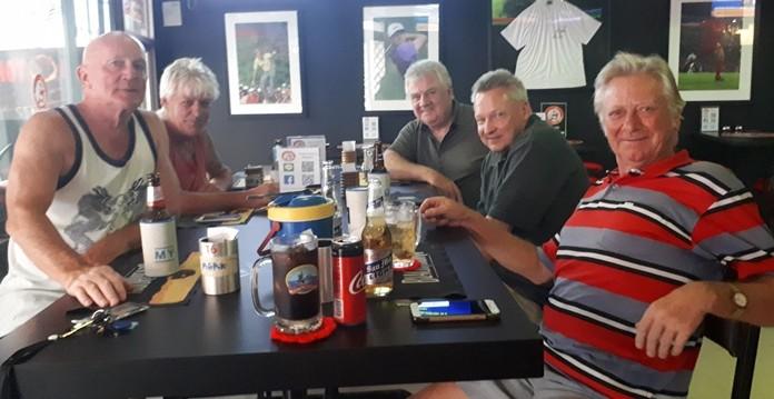 (L to R) Mark Stapleton, Allan Ray, Roger Ellis, Mondays winner Volker Buley and the ever green Keith Buchanan.