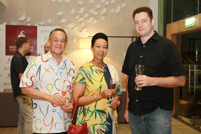 H.E. Geoff Doidge, South African ambassador with his wife Carol and Berne Lamprecht, MD of ASAP Marine Trading.