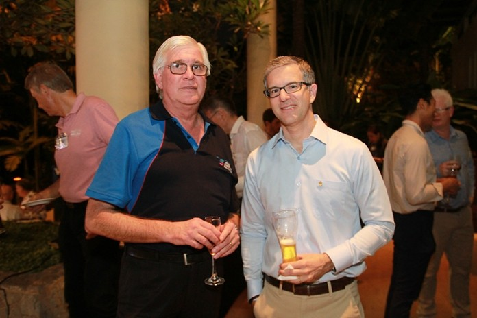 Frank Holzer, MD of Anca Sheetmetal with Frederic Brohez, GM of InterContinental Pattaya Resort.