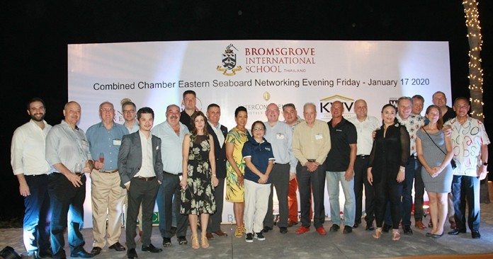 Sponsors and Chamber representatives at the Combined Chamber of Commerce Networking Evening at the InterContinental Pattaya Resort.