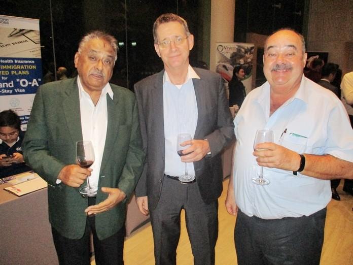 Peter Malhotra, MD Pattaya Mail, Thomas Tapken, MD Pattana Golf Club & Resort and Jack Levi, MD Macallan Brokerage Co., Ltd.
