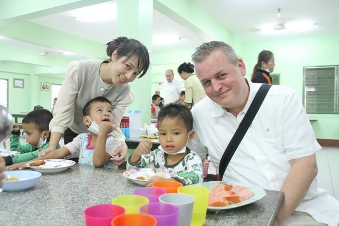 Yaree Nealsen and staff enjoy helping the children