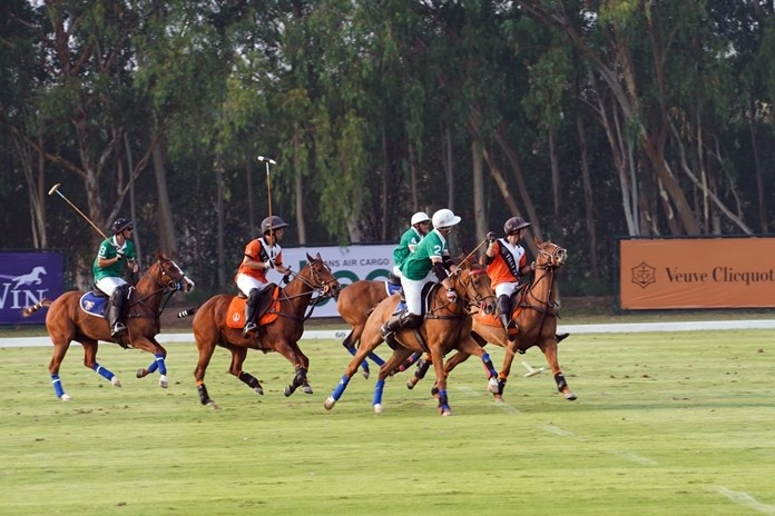 Expert riders compete in the B.Grimm – BMW Thai Polo Open 2020.
