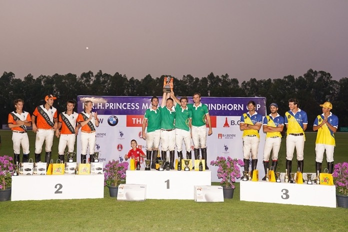 This event featured an exciting competition between the Thai Polo Team (shown here) and 1003 Polo Team from China, the former winning 7-3.