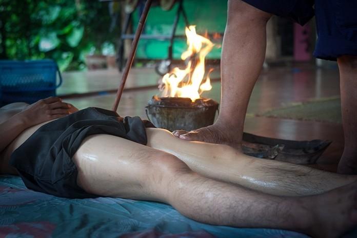 Yam Khang massage, Ban Rai Kong Khing in Chiang Mai.
