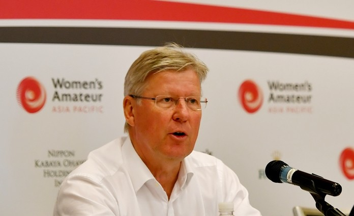 """Martin Slumbers, Chief Executive of The R&A, said, """"We are delighted to partner with Hana Financial Group who are long term supporters of women's golf around the world."""""""