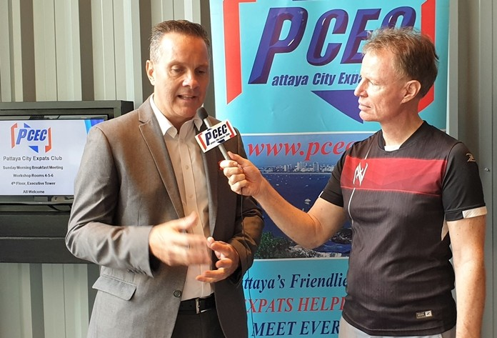 Member Ren Lexander interviews Andrew Stocks after his presentation to the PCEC. To view the video, visit: https://www.youtube.com/watch?v=GPO3MCWa40o.