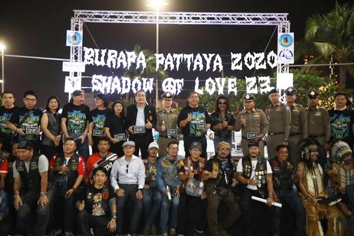 Mayor Sonthaya Kunplome and Prasan Nikaji, president of the Burapa Motorcycle Club, announce Burapa Bike Week returns Feb. 13-15.