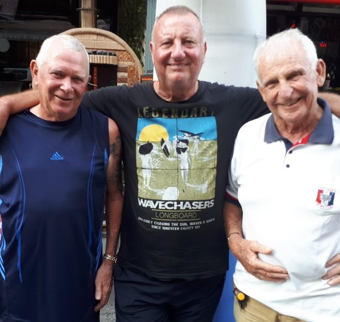 (L to R) Steve Younger, Thursday's winner Glenn Smith and JC Lhoste.