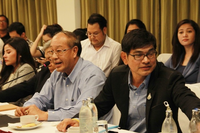 Udom Thipdecho, director of the Chonburi Provincial Irrigation Department, and PWA officials told the Pattaya Business & Tourism Association that Pattaya has at least enough water to last through June, but please continue to conserve.