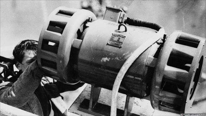 WW2 British air-raid siren.