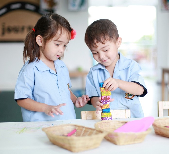 Children take part in a broad range of play and inquiry-based learning experiences.