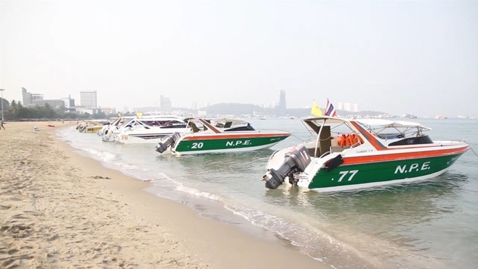 Pattaya tour boats sit idle on shore now that all of their Chinese passengers are stuck back home.