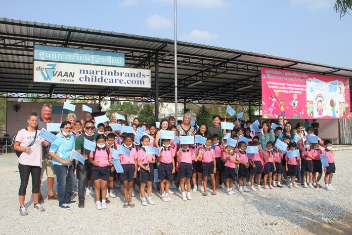Human Help Network Foundation Thailand Director Radchada Chomjinda, managers and charity benefactor Renee van Goosen relocated 70 kids to the new facility on Sukhumvit Soi 32 Feb. 3.