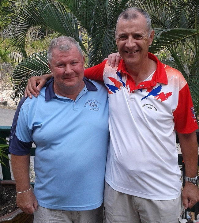 B Flight winner Ronnie Ratte and A Flight winner Richard Kubicki.