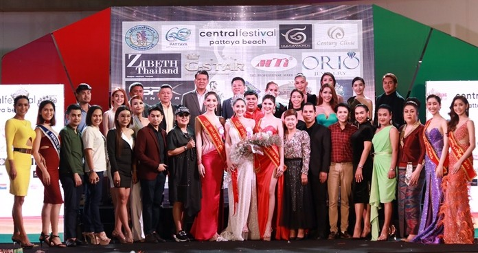 Contestants, sponsors and honored guests take a bow.
